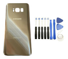 Samsung Galaxy S8 G950 Gold Glass Back Cover Housing Battery Door + To