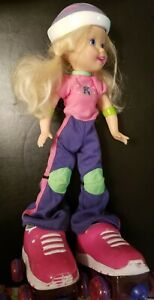 "Radical Rollin Rachel 2002 Hasbro RARE 15"" Doll Cute Fun Rollerskating Doll"