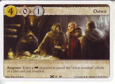 3 x Outwit AGoT LCG 1.0 Game of Thrones The Isle of Ravens 80