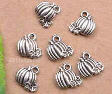 wholesale 30pcs tibetan silver pumpkin Charm Pendant fit Bracelet necklace 11mm