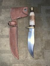 rare Marbles Knife And Sheath Vintage stag hunting gladstone woodcraft