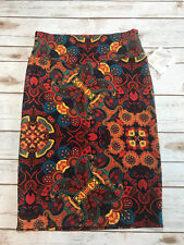 Vtg NWT Lularoe S Small Cassie Paisley Skirt Butterfly Floral Blue Red Orange
