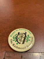 Happy St. Patrick's Day The Richmond Symphony Vintage Pin Button FREE SHIPPING
