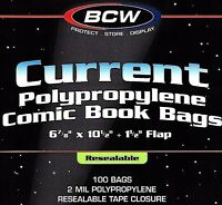 200  Current Resealable Bags and Boards Archival Comic Book Storage Supplies