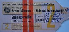 TICKET BL 1976/77 FC Bayern München - Braunschweig