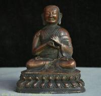 """8 """"Bouddhisme Tsongkhapa Je Tsongkhapa Bouddha Bronze de Chine ancienne"""