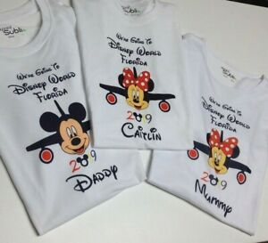 Personalised were going to disney tshirts micky minnie childrens adults any date
