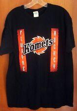 FORT WAYNE KOMETS logo lrg T shirt hockey UHL faux suspenders Indiana