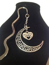 Best friend.. filligree book mark silver plated