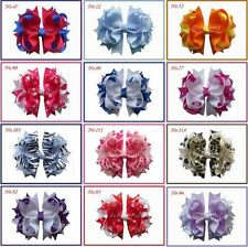 "20 BLESSING Good Girl Hair Accessories Baby 4.5"" A- Blossom Bow Clip 117 No."