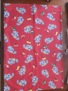 Blues Clues Flannel Pillow Case Red All-over Print Construction Cars Soft Warm