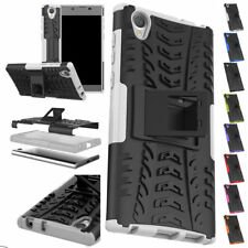 For Sony Xperia L1/XA1/E5 Heavy Duty Rugged Armour Shockproof Stand Case Cover
