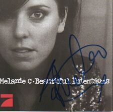 "Melanie C Autogramm signed CD Booklet ""Beautiful Intentions"""