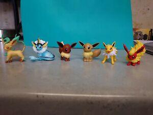 Eeveelution Tomy Pokémon Figure Bundle Eevee Flateon Leafeon Cgtsj Lot Vaporeon