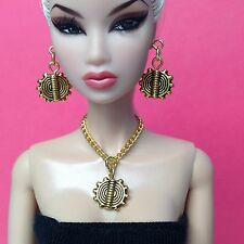 S819 Silkstone Barbie Fashion Royalty Doll Jewelry Gold