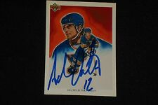 HOF ADAM OATES 1991-92 UPPER DECK TEAM SIGNED AUTOGRAPHED CARD #94 BLUES