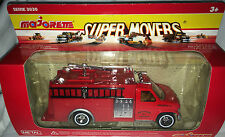 "Majorette Super Movers 3030.4 METAL ""New York No. 1/Pompier-Fire"", neuf + neuf dans sa boîte"