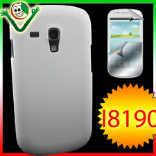 2x PELLICOLA+Custodia back cover per Samsung Galaxy S3 MINI i8190 rigida BIANCA