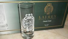 LAUREN RALPH LAUREN CLASSIC CREST SHOT GLASS SET OF SIX NIB 550-LR750-611