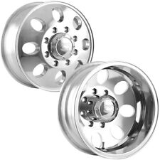 """Set of 4-16"""" Inch Ion 167 Dually 8x6.5"""" Polished Wheels Rims"""