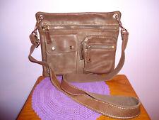 Fossil Sutter  Brown Pebbled Leather Messenger Crossbody Shoulder bag Purse