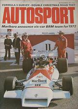 AUTOSPORT 23/12/1971 featuring JCB Excavator road test, Napier 60 hp
