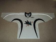 VTG Rare Reebok sewn San Jose Sharks White size Small Adult Men's Hockey Jersey