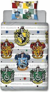 Harry Potter Single Bedding Set Duvet Cover House Crest Cover Reversible 2 in 1