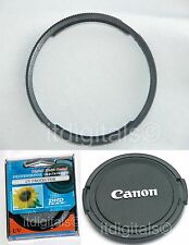 Filter Adapter Ring UV Lens Cap For Canon Powershot SX1is SX10is Camera U&S