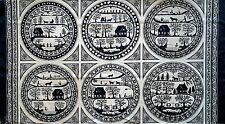 SIMPLE PLEASURES FABRIC PANEL1930 Civil War Reproduction Intricate Silhouettes !