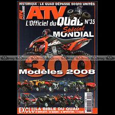 ATV OFFICIEL DU QUAD N°35 KAWASAKI KFX 450 R YAMAHA YFM 250 SPECIAL MONDIAL 2007