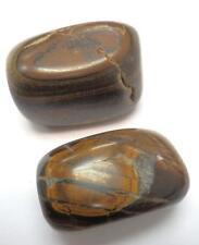 Tumbled Ordinary Grade Tiger's Eye Stone Pair 97.7 gram 50.3 g & 47.4 g