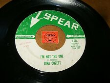 GINA COZETT - I'M NOT THE ONE - SWEET TALKIN BOY  / LISTEN - GIRL JAZZY POPCORN