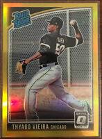"01/10! 2018 Donruss Optic THYAGO VIEIRA ""Rated Rookie/ GOLD Prizm"" SSP Card #53!"
