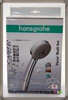 Hansgrohe Verso Multi Chrome Duschbrause SET mit Halterung Vario Silber 27274000