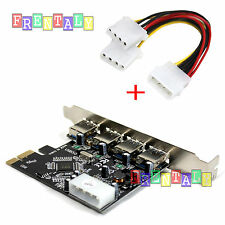 4 Port PCI-E To USB 3.0 HUB PCI Express Card Adapter VL805 Chipset 5Gbps Speed