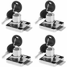 4 Pack Cylinder Cam Drawer Lock Desk Wardrobe Cabinet Locker Furniture Hardware