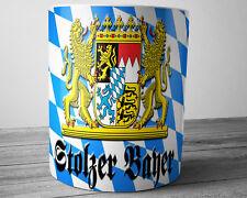 GERMAN Coffee Mug Proud Bavarian German Patriotic Mug Stolzer Bayer German Gifts