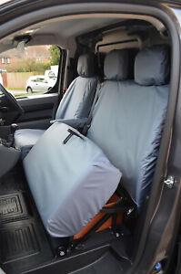 Grey Waterproof Seat Covers Front 3 for Peugeot Expert Van 2016+ NO Worktray