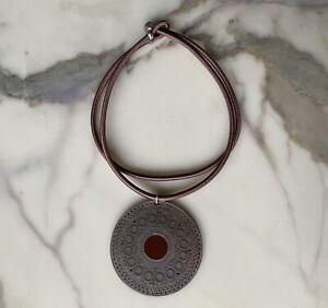 Collier ras de cou ethnique TRIBU RIGAUX pendentif XXL