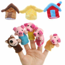 Animal Finger Puppets The Three Little Pigs Kids Children's Educational Toys New