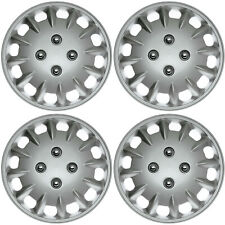 "4 pc Set Hub Cap ABS Silver 14"" Inch Rim Wheel Cover Replica Hubcaps Covers Caps"