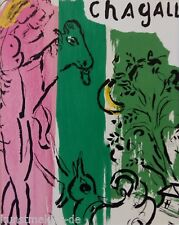ORIGINAL Marc CHAGALL Lithographie 192 mit Expertise + Passepartout : Paysage
