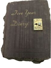 5 Year Diary Completely Filled Out 1943-1947