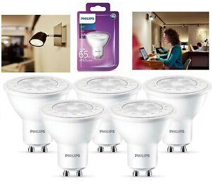 Philips LED GU10 Light White Bulb Ceiling Reflector Downlights 65 Watt A+ Energy