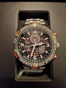 INCREDIBLE Men's Citizen Promaster Skyhawk Titanium Watch - Silver/Black