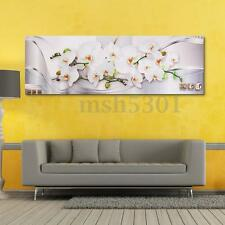 Modern Abstract Magnolia Flower Painting Picture Wall Home Decor Unframed White