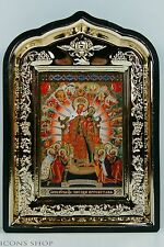star christmas icon of god's mothering in golden frame звезда пресветлая икона