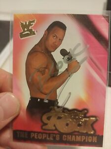 The Rock Signed Trading Card WWE w/ COA