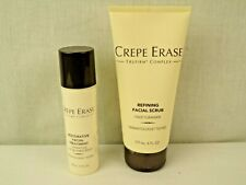 CREPE ERASE Refining Facial Scrub + Restorative Facial Treatment slightly used